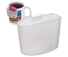 Teebeutelhalter aus gefrostetem Kunststoff