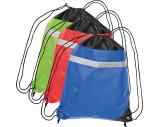 Non-Woven Gym-Bag mit reflektierendem Streifen auf der Vorderseite